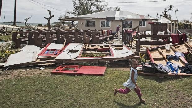destroyed church in tonga