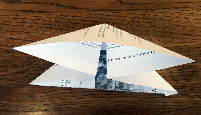 Ward Bulletins origami balloon step 3