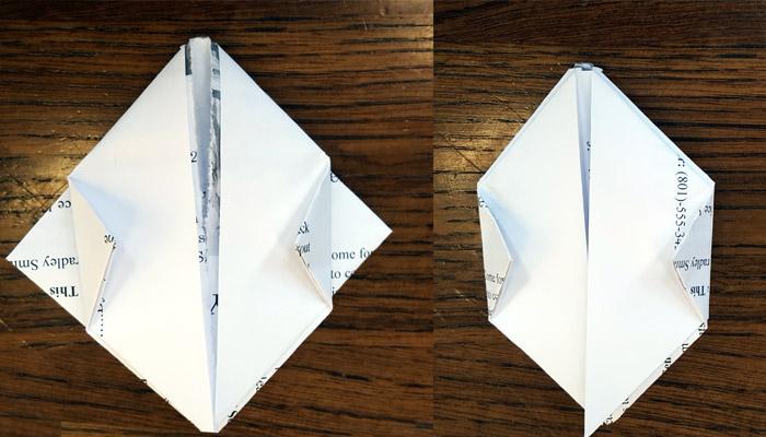 Ward Bulletins origami balloon step 5