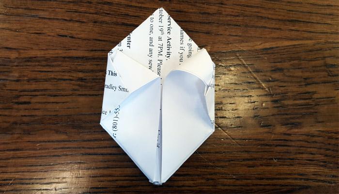 Ward Bulletins origami balloon step 6