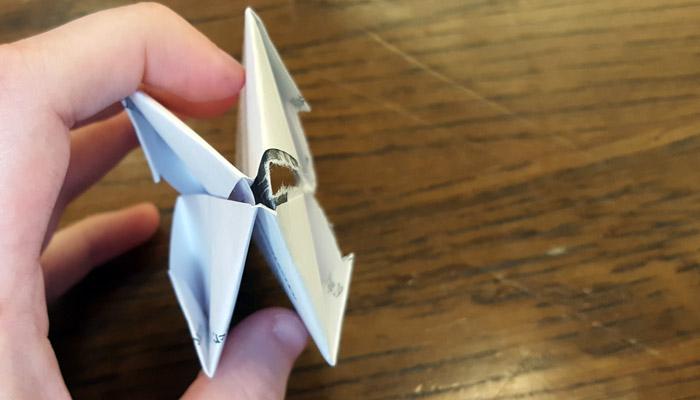 Ward Bulletins origami balloon step 7