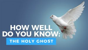 holy ghost quiz title graphic with dove