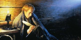 Painting of Joseph Smith sitting in jail
