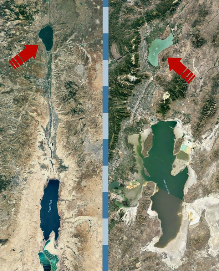 Sea of Galilee next to Utah Lake