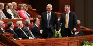 Mormon apostles Gong and Soares in General Conference