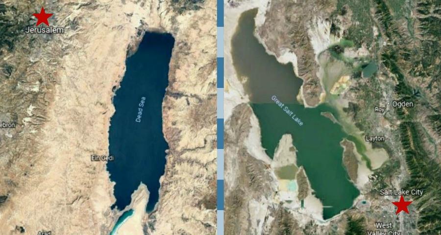 Maps of Palestine and Utah