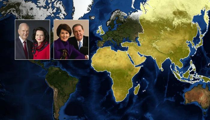 Elder Holland President Nelson world tour