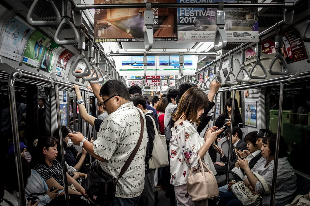 smartphone subway