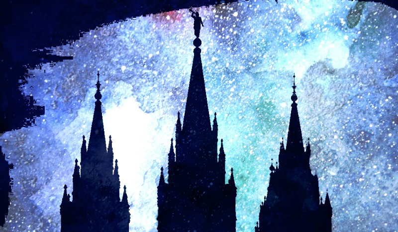 Stylize image of the Salt Lake City temple