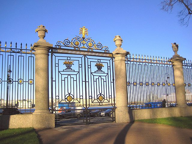 Gate to the Summer Garden in St. Petersburg, Russia