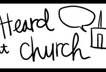 heard at church