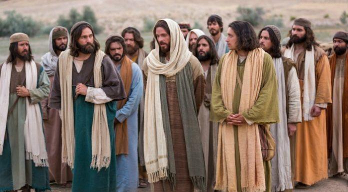 apostles walking with Jesus