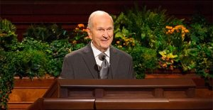 President Nelson speaking in General Conference