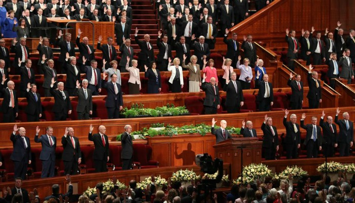 solemn assembly at LDS general conference