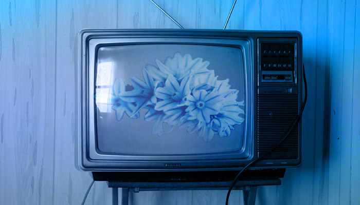 blue television with flowers rumors of war