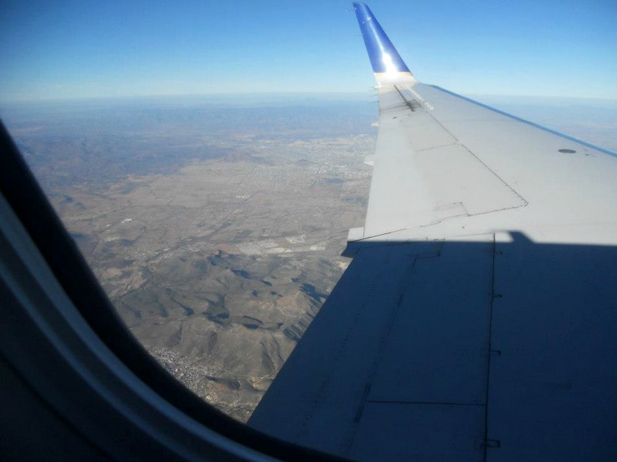 Flying over Chihuahua, Mexico, the location of my Mormon mission.