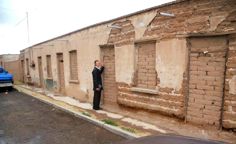 Mormon missionary knocking on doors