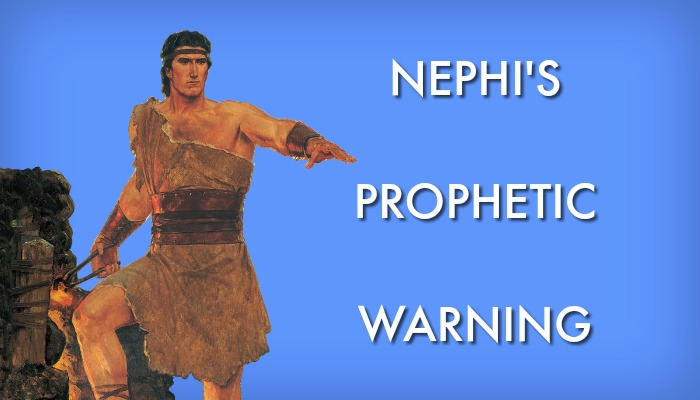 The prophet Nephi along with the text: