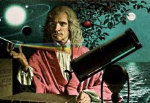 Isaac Newton prism telescope solar system