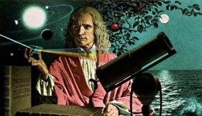 Isaac Newton prism telescope solar system