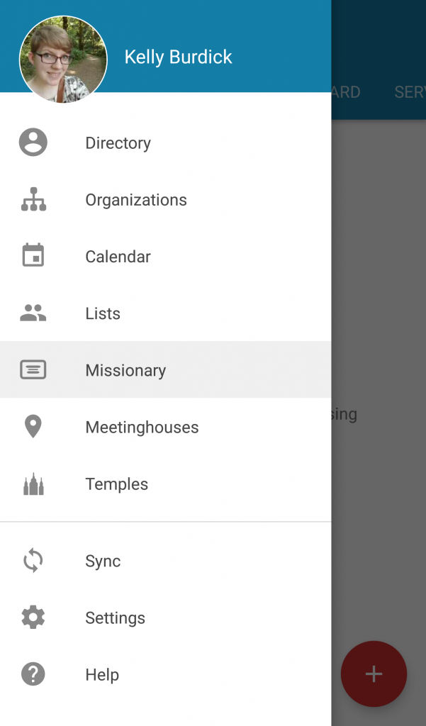 screenshot of LDS Tools missionary referral