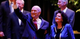 President Nelson's social media challenge happened at the meeting shown in this image