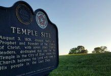 Sign at Missouri Mormon temple site