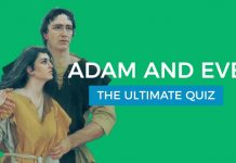 Adam and Eve quiz title graphic
