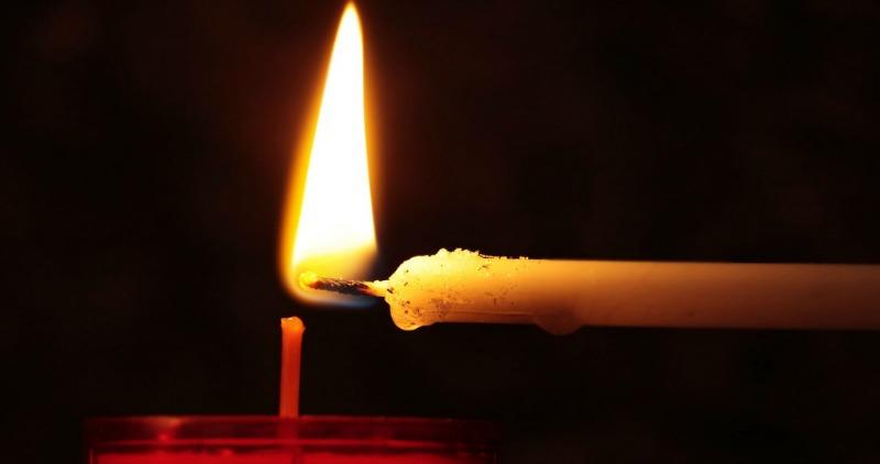 A candle representing faith