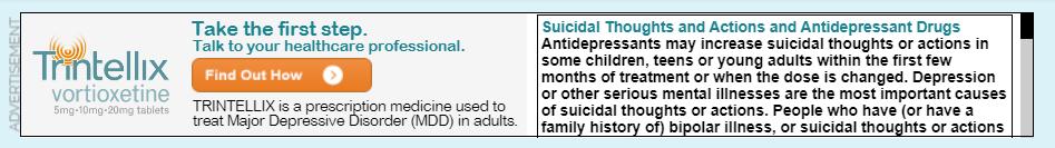 antidepressant black box