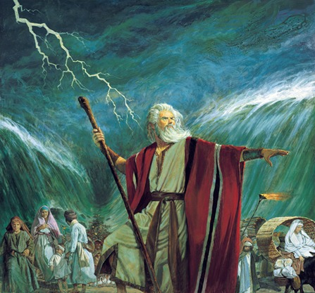 moses parting red sea_answers