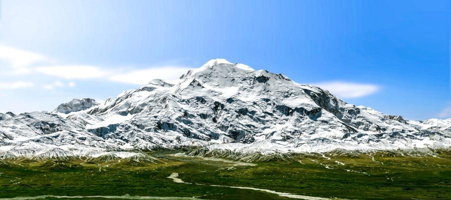A mountain
