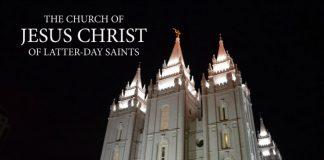 Salt Lake Temple with LDS church logo