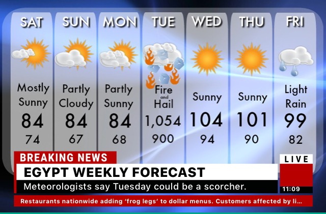 Fake weather report