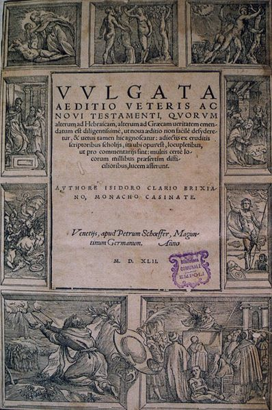 A page from the Vulgate
