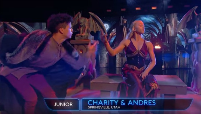 Charity and Andres performing in World of Dance
