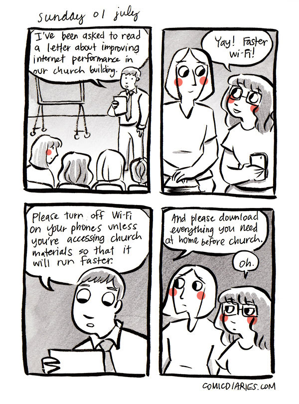 Heard at Church comic 15 lds