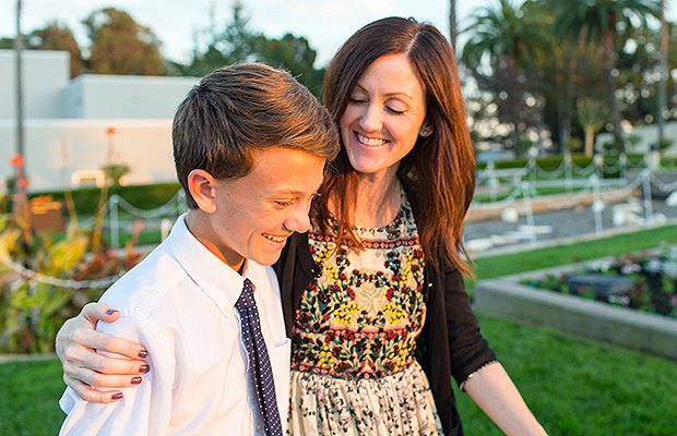 lds mom and son