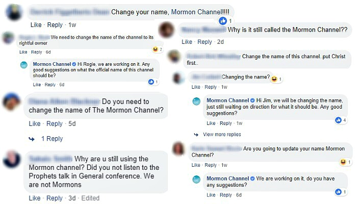 Comments to Mormon Channel