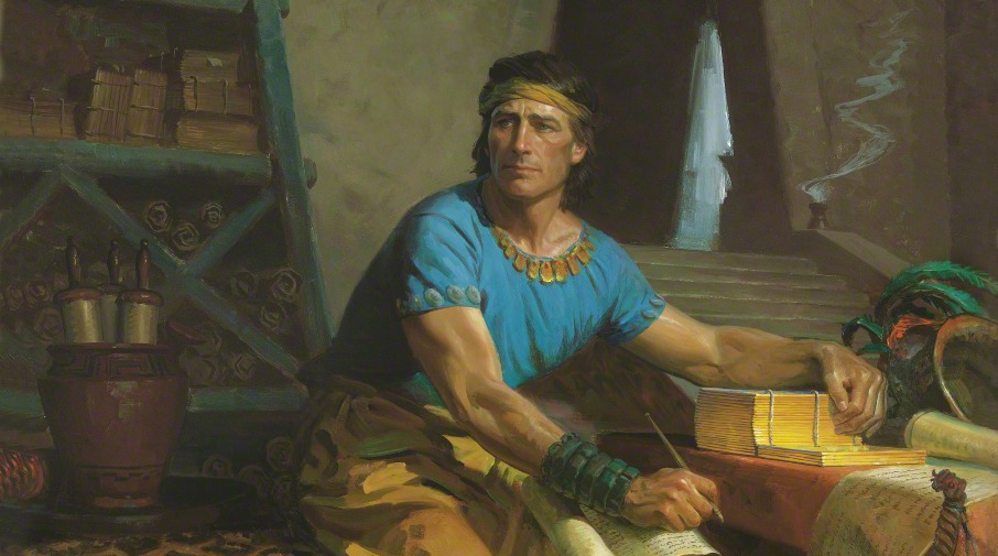 Painting of the prophet Mormon