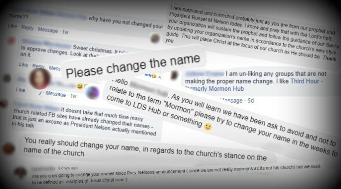 Comments from social media about the Church's name correction.