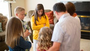 Christ centered home Mormon family prayer