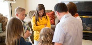 Christ centered home Mormon family prayer