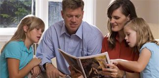 Christ centered home Mormon Family teaching about Christ