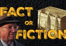 Fact or Fiction text with images of golden plates and President Hinckley.
