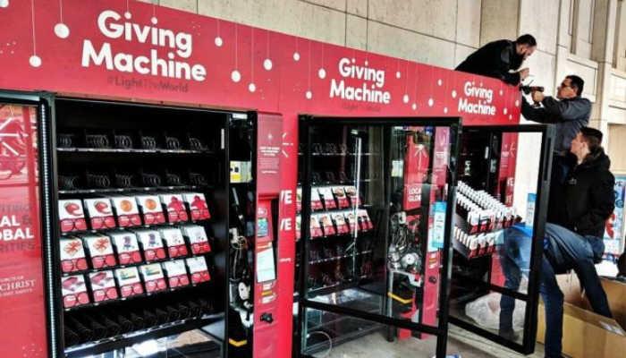LightTheWorld Giving Machines Mormon LDS Service Christmas