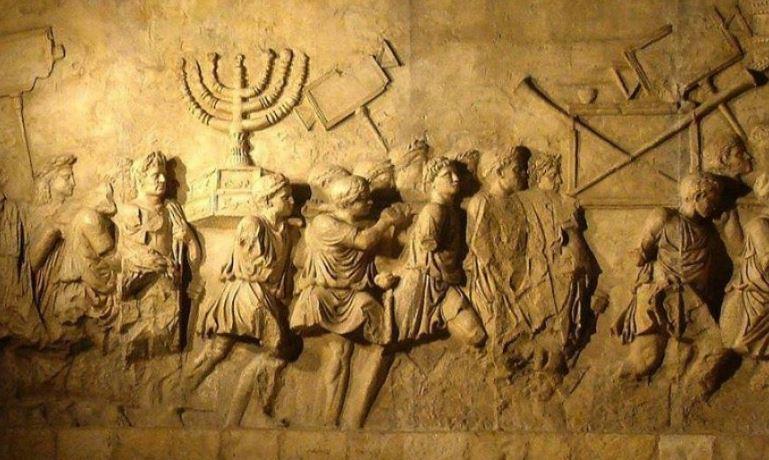 Maccabean revolt bas relief