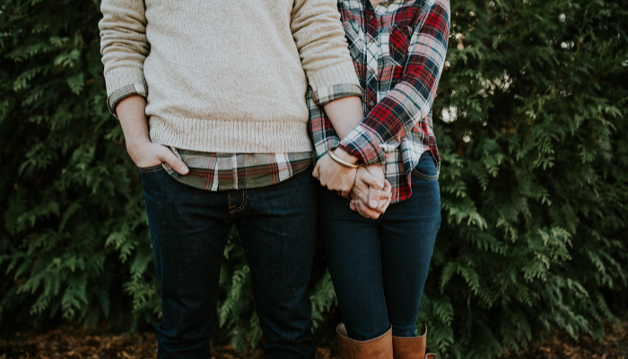 couple flannel romance