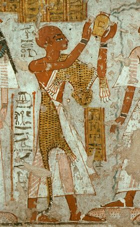 Mormon Ancient Egypt temples priest with leopard skin robe