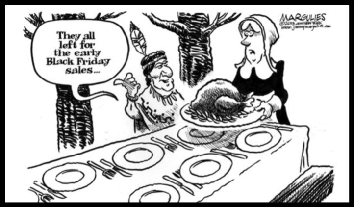 Mormon Black Friday Thanksgiving cartoon funny